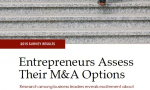 Harris Williams | 2015 Survey Results: Entrepreneurs Assess Their M&A Options